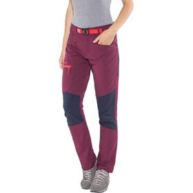 Bergans Cecilie Mountaineering Broek Dames, dark cherry/navy/strawberry